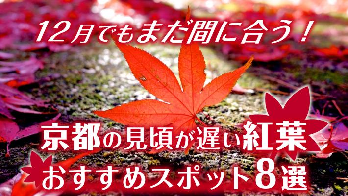 12月でもまだ間に合う!京都の見頃が遅めなおすすめ紅葉スポット8選