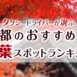 京都の紅葉名所ランキング!タクシードライバーおすすめベスト15