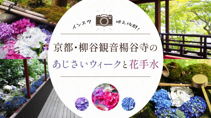 インスタ映え抜群!京都・柳谷観音楊谷寺のあじさいウィークと花手水